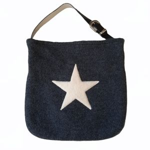Wool You Be Mine Wool Leather Tote Bag Star Icon